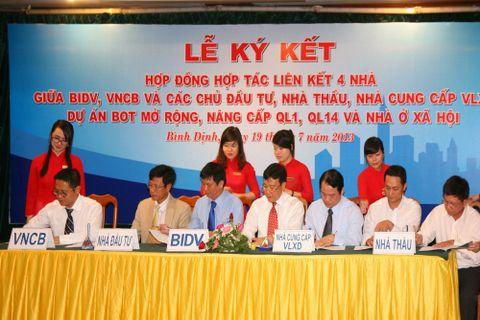 BIDV ký kết 5 hợp đồng triển khai liên kết 4 nhà