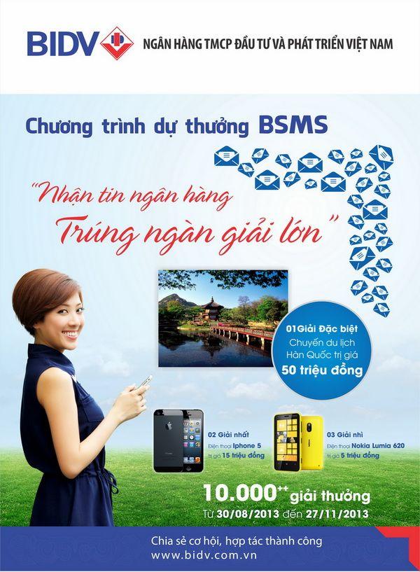 Khuyến mãi dịch vụ BSMS trúng ngàn giải lớn
