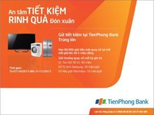 Gửi tiết kiệm rinh quà đón xuân cùng TienPhongBank