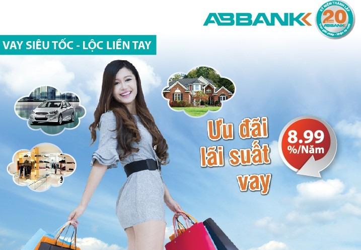 Vay tiêu dùng với lãi suất hấp dẫn cùng ABBank