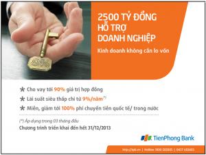 Tienphongbank cho vay lãi suất thấp với doanh nghiệp