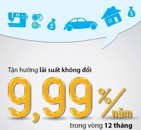 VIB cho vay ưu đãi với lãi suất 9,99% trong năm đầu tiên