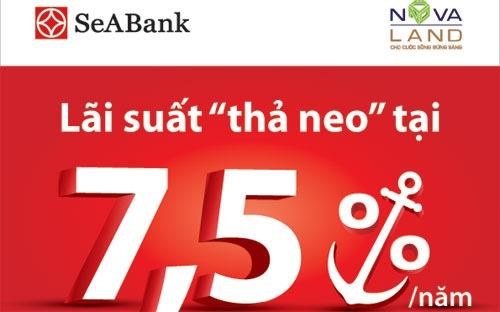 Vay mua nhà tại SeABank lãi suất chỉ 7,5%/năm