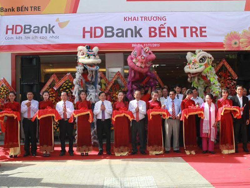 Khai chương chi nhánh ngân hàng HD Bank tại Bến Tre