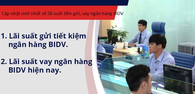 lãi suất tiền gửi, vay ngân hàng BIDV ảnh 2