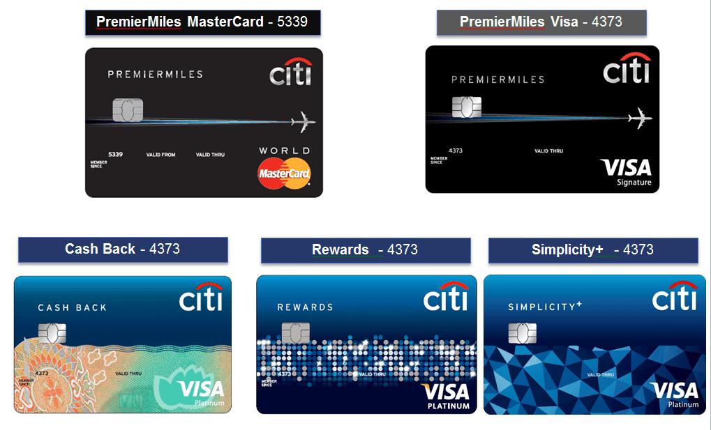 Các loại lãi suất thẻ tín dụng Citibank