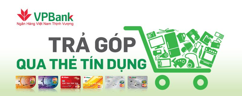 trả góp 0% lãi suất qua thẻ tín dụng