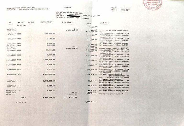 giấy tờ chứng minh thu nhập